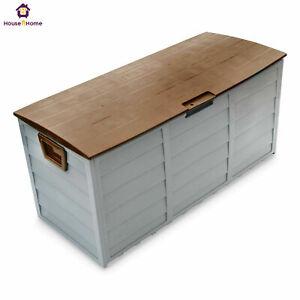 Outdoor Garden Storage Chest Cushion Box Waterproof 290L Waterproof Chest Shed