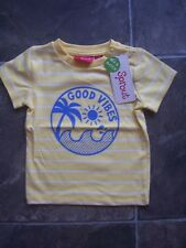 Baby Boy's Sprout Yellow, White & Blue Cotton Knit T-Shirt Size 00