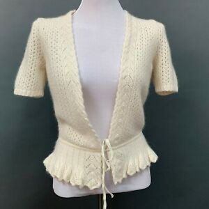 Ann Taylor Loft Women's Sweater X-Small XS Ivory Cream Cardigan