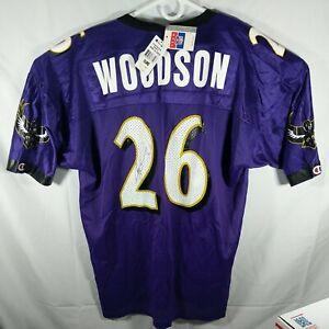 NWT Vintage Rod Woodson Baltimore Ravens Jersey Champion Size 52 Autographed