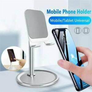 Universal Adjustable Cell Phone Desk Stand Holder Aluminum Desktop For iPhone JT