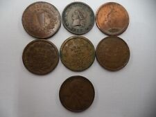 Lot of 7 1800's Patriotic Civil War Tokens Union Army Navy Flag 1909-Vbd