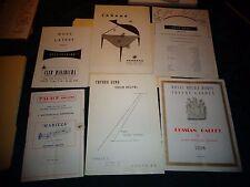 Vintage Show Programs Japan London Tokyo 1950s 1960 Tito Puenta Russia Ballet #C