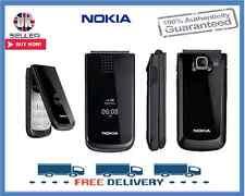 Nuevo Nokia 2720 Negro Flip Big Button Desbloqueado Teléfono Móvil 1 Año De Garantía