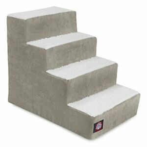 4 Step Portable Pet Stairs By Majestic Pet Products Villa Vintage Steps for C...