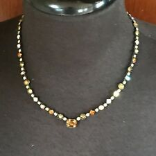 Vintage Sorrelli Necklace Choker Retired Gold Toned Crystal Jewelry