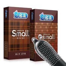 10Pcs Small Size Ultra Thin Latex Condom  Men Products Tight Condoms 45mm Spike