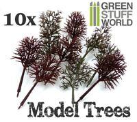 10x Bare Model Tree -- Warhammer Model Train Park Scenery Landscape