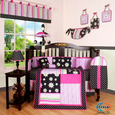 13PCS Charming Flower Baby Nursery Crib Bedding Sets - Holiday Special