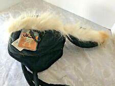 NWT Mentalgear Little Stinker Skunk Faux Fur Cap Black Fleece