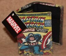New Captain America Marvel Comics Wallet with Tags