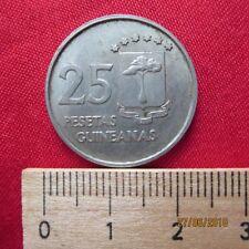 Republica de Guinea Equatoriale - 25 pesetas 1969 guineanas-Guinea Ecuatorial