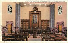 Baton Rouge, Louisiana, State Capitol, House of Representatives - Postcard (Y14)