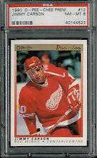 PSA 8 1990 Opeechee OPC Premier NHL Hockey Jimmy Carson #12 Detroit Red Wings