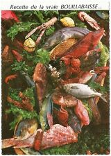 Postcard France French Authentic Bouillabaise Recipe Recette NrMINT