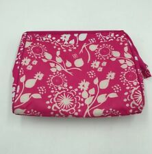 THIRTY ONE GIVES Hot Pink Floral Small Utility Organizer Cosmetic Make Up Bag