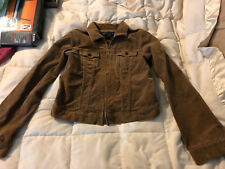 YOUTH GIRLS ABERCROMBIE & FITCH BROWN CORDAROY ZIPPER FRONT JACKET SIZE LARGE