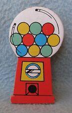 Bubble Gum Machine Wood Clothes Pin Magnet, Travel, Refrigerator, Souvenir