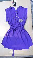Chicka-d  Purple  SHIRT Dress K-State SIZE S