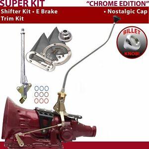 700R4 Shifter Kit 23 Swan E Brake Trim Kit For F643C auto trans fits lokar lokar