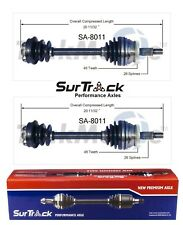 Saab 9000 FWD 1990-1991 & 1994 Pair of Front CV Axle Shafts SurTrack Set