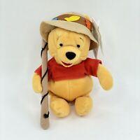 "Winnie the Pooh Fisherman Lake Resort Disney Plush Bean Bag Stuffed Toy Bear 8"""