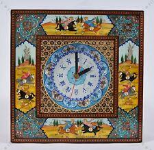 Mini Wall Clock Handmade Wall art Inlay With Copper/ Christmas gift