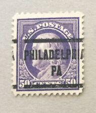 mystamps  US 422 Precancelled unused, 50 cent Franklin 1912, MNH