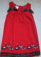 "An Adorable Red Corduroy ""Nannette Girl"" Girls Jumper~size 5"