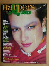Harpers & Queen. December, 1984. Photos by Rudi Molacek, David Bailey, etc