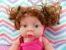 "~~ NEW ~~ BABY GIRL DOLL 10"" INCH FRUIT SCENTED BLUE EYES 6 SOUNDS TALKING TOY"