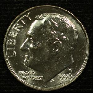Roosevelt Clad Dime. 1996 W. Gem Brilliant Uncirculated.