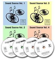 4 CDs - SOUND SOURCE - GEMAFREIE MUSIK AKM GEMAFREI - ORCHESTRAL JAZZ REGGAE ...