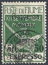 1920 FIUME USATO ESPRESSO REGGENZA ITALIANA DEL CARNARO 50 SU 5 CENT - RR11936