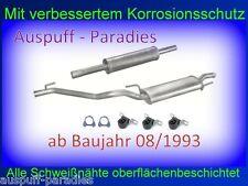 Abgasanlage Auspuff Endtopf Mitteltopf VW Golf III 1.4, 1.6 & 1.8 (1H1) + Kit