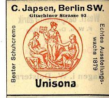 C.Japsen Berlin UNISONA Trademark 1908