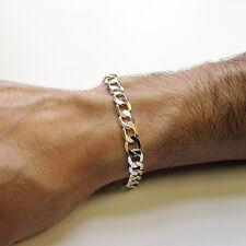 "Herren Gents 925 Solid Sterling Silber 8.5"" Panzerkette Link Bracelet"