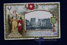 alte AK Prägekarte Rorschach in St. Gallen Schweiz 1906