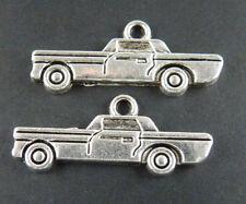 100pcs Tibetan Silver Car Charms Pendants 28x12mm 11646