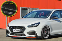 Spoilerschwert Frontspoiler ABS für Hyundai I30N + Performance Carbon Optik ABE
