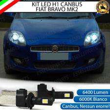 COPPIA H1 A LED 6400LUMEN ANABBAGLIANTE FIAT BRAVO II 6000K CANBUS NO AVARIA