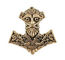 Bronze Thor's Hammer Mjölnir Pendant - Dryad Design Viking/Norse Rune Amulet