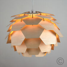 Modern Funky Retro Style Wood Artichoke Ceiling Pendant Light Lamp Shade Lights