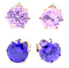 Classic diamond stud style crystal earrings multiple choices