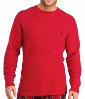 Polo Ralph Lauren Jersey Knit Long Sleeve T Shirt Men's Sz M Red W/ Black Pony