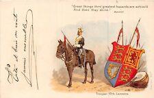 POSTCARD  MILITARY   17th  Lancers    Trooper