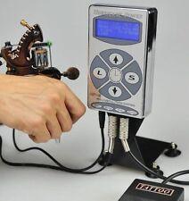 Hurricane LCD Digital Tattoo Machine tatuaggio Alimentazione Power Supply silver