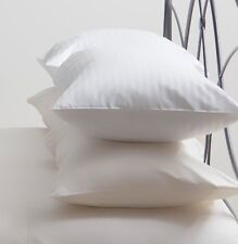 WHITE SATIN STRIPE PILLOWCASES   SET OF 4