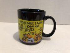 "Hallmark Greetings Shoebox Mug Cup I'd Whistle While I Work Tiger Cartoon 4""H"