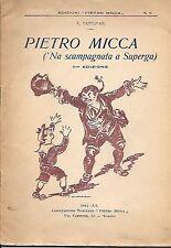 TARTUFARI PIETRO MICCA SUPERGA VELLAN ROMOLETTO SONETTI DIALETTO ROMANESCO 1942